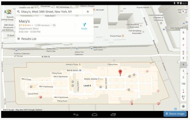 Google Maps building interior map