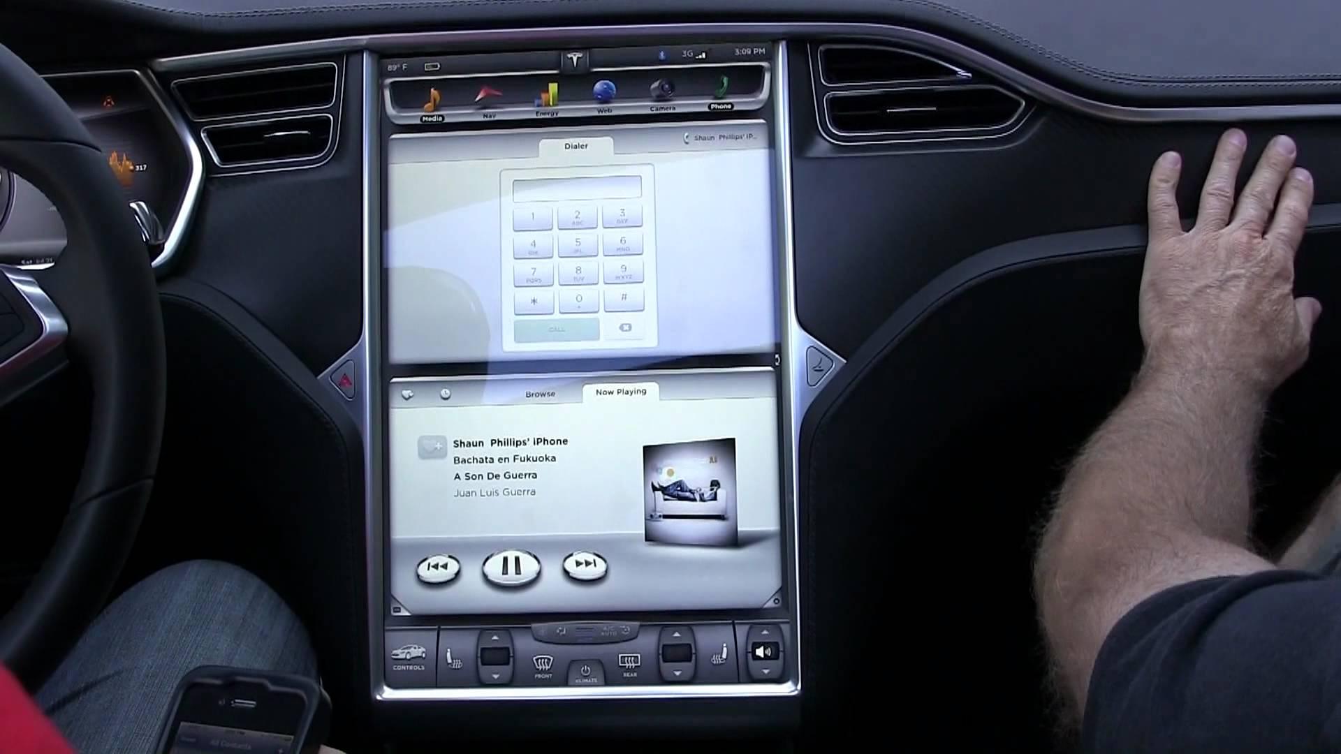 In-Car Tesla Bluetooth