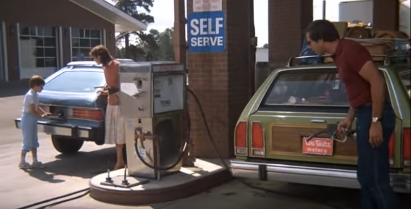 Vacation Roadtrip Gas Station Scene